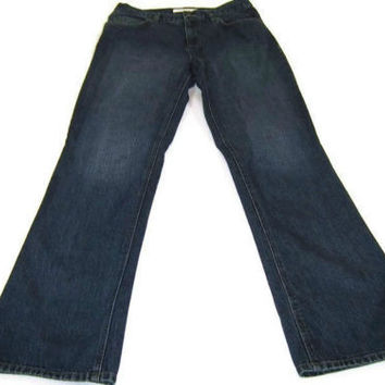 JONES NEW YORK womens Designer Jeans Denim PANTS Bootleg Size 6