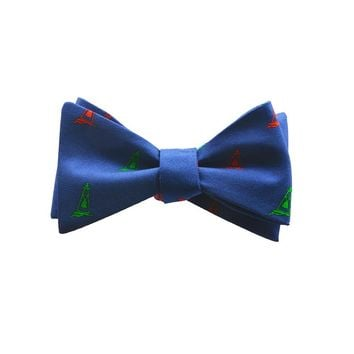 Buoy Bow Tie - Port & Starboard, Printed Silk