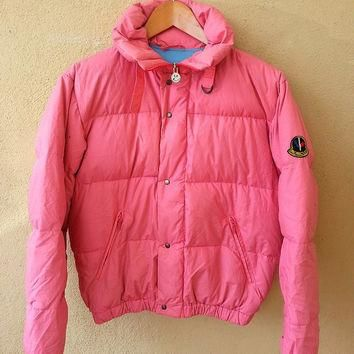 Authentic MONCLER Pink Asics Puffer Ski Wear Gore Tex Sweater Jacket