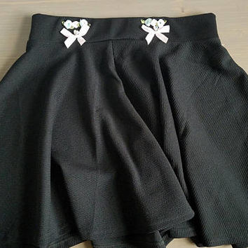 Kawaii black skater skirt