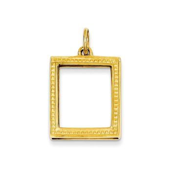 14k Gold Picture Frame Pendant