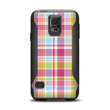 The Yellow & Pink Plaid Samsung Galaxy S5 Otterbox Commuter Case Skin Set