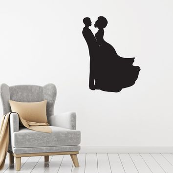 Vinyl Decal Wall Sticker Dance Couple African Prom Decor Interior Unique Gift (g033)