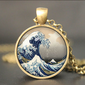 Great Wave  Necklace Great Wave jewelry, Great Wave  Pendant charm,Great Wave gift,friend gift Necklace