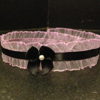 kitten choker/collar with bow