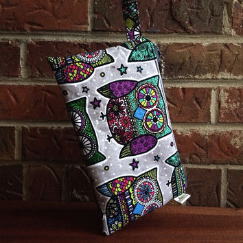 Wristlet Clutch Wallet Owls Sugar Multi Owl Diaper Clutch Nappy Clutch  Large Wristlet