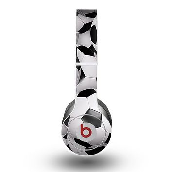 The Soccer Ball Overlay Skin for the Beats by Dre Original Solo-Solo HD Headphones
