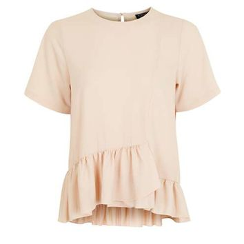 Frill Hem T-Shirt - Tops - Clothing