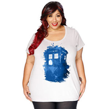 TARDIS Splatter Ladies' Plus Size Tee- Exclusive