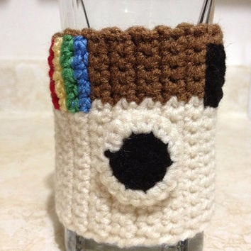 Trendy Hipster Instagram Mug Cozy - Geekery Insta Social Media Cup Cozy - Hipster Kitchen Accessory - Retro Collector Item