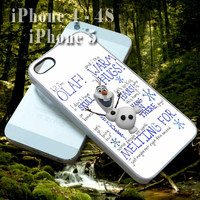 Disney Frozen Olaf Quote Collage - Custom Cell Phone Case - iPhone 4 4s,5,5s,5c - Samsung S3,S4 - iPod 4, 5 - HTC One,One X - BB Q10,Z10