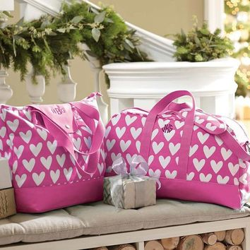 Sleepover Tote Bag, Pink Sweethearts