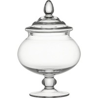Delfina Short Covered Jar in Home Accents   Crate and Barrel