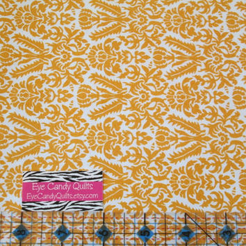 Bright Orange Damask fabric, Orange and White,  Damask, Cotton Fabric, Quilting fabric, Fat Quarters, Half yard or 1 yard cuts