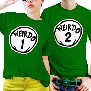 Weirdo One Weirdo Two Couples Matching Shirts, Couples T Shirts, Funny Couple Shirts