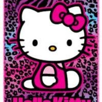 "Hello Kitty Scented Plush Fleece Throw Large - 50""x60"""