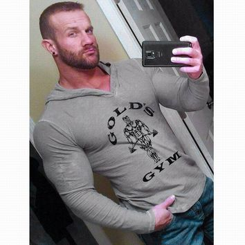 Fitness Bodybuilding Hoodies Men's Gyms Clothing Gold's Gorilla Wear MuscleTracksuits Cotton Slim Fit Autumn MuscleWears