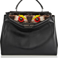 Fendi - Peekaboo medium leather and calf hair tote