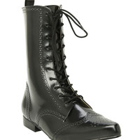 Demonia By Pleaser Black Nappa PU Boot