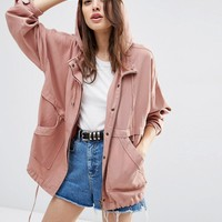 ASOS Washed Cotton Summer Jacket at asos.com