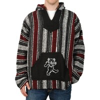 Grateful Dead Men's  Dancing Bear Hooded Sweatshirt Multi