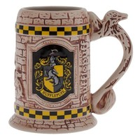 Wizarding World Of Harry Potter Hufflepuff Sculpted Ceramic Stein Mug Universal