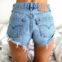 Vintage Levi's Levi Strauss High Waisted Shorts by SummersHere