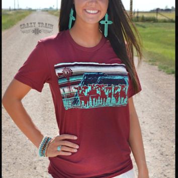 Crazy Train Cattle Drive Tee