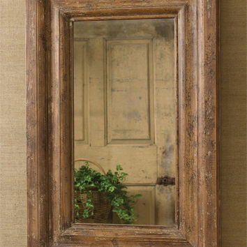 Rustic Distressed Wood Mirror