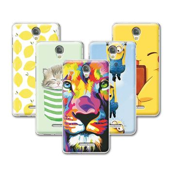 Fruit Art Print Painting Cat Minions Banana Case For Alcatel OneTouch POP 4 POP4 5051 5'' Case Cover Fundas OneTouch POP 4+Gift