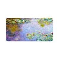 WATER LILIES COOL ALUMINUM LICENSE PLATE