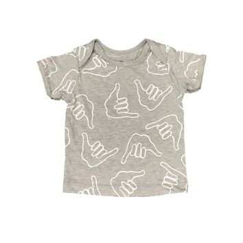Baby Shaka Lap Tee Heather Grey