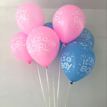 10pcs 5inch It's a boy /it's a girl, baby boy latex balloons for Wedding, kids Birthday, Baby shower Party Decoration supplies