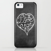 I Love You Chalkboard iPhone & iPod Case by Heather Dutton