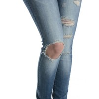 Kan Can Plus Size Medium Super Skinny Jeans