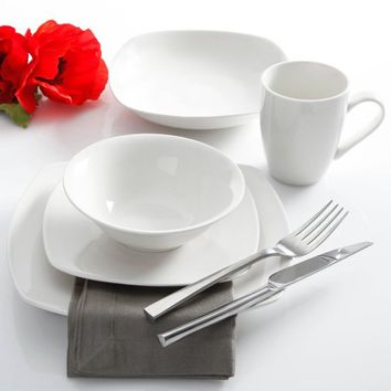 Gibson Home Liberty Hill 30-Piece Dinnerware Set, White - Walmart.com