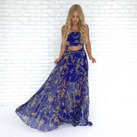 Lost at Sea Blue Maxi Dress
