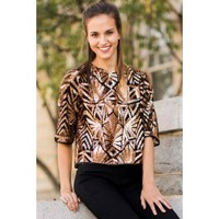 Everly High Spirits Gold Sequin Top