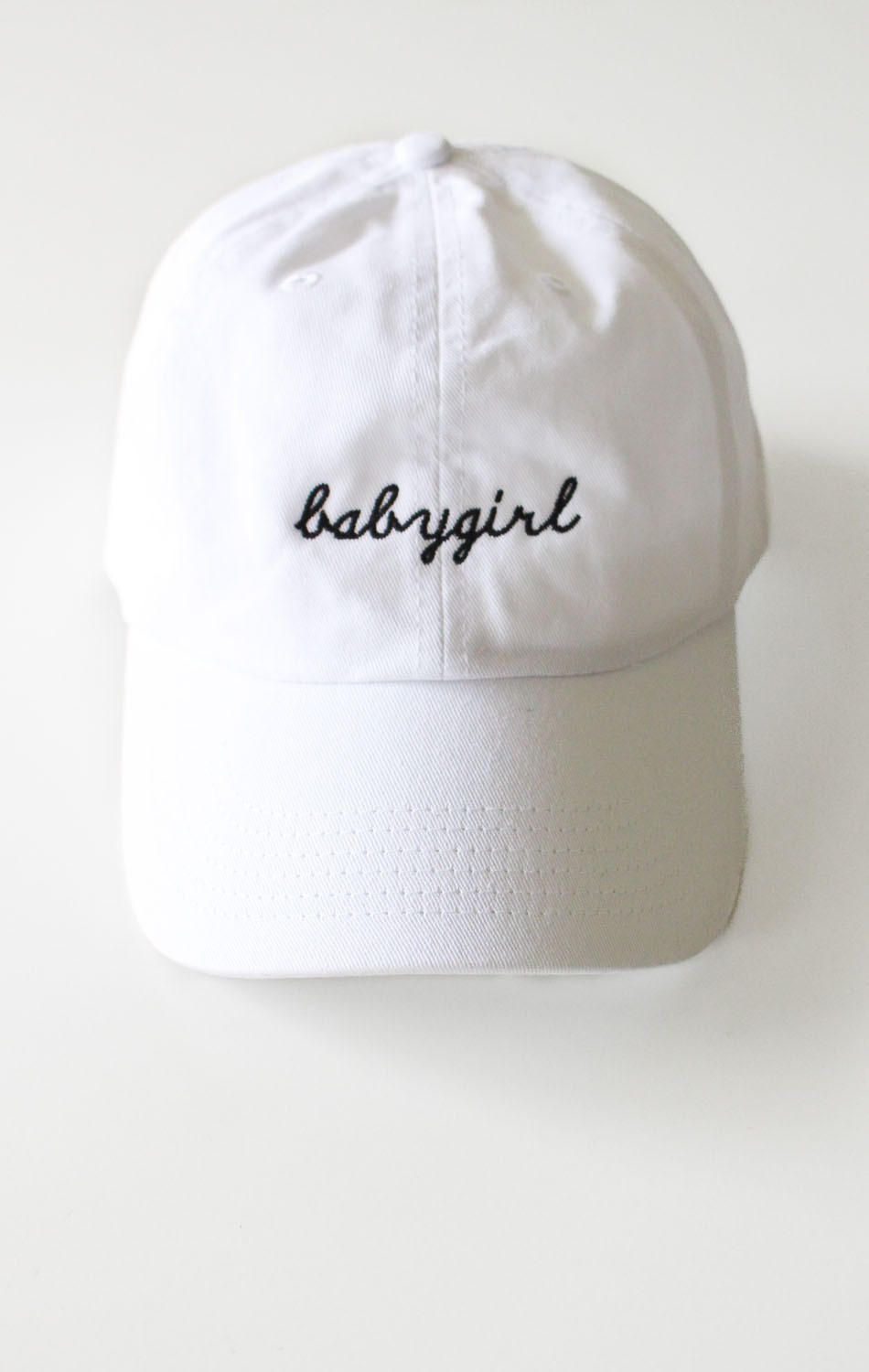 5d71ebf8b0d68 Babygirl Cap - White from NYCT Clothing