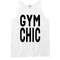Gym Chic Tanktop by 99Crowncat - Funny Text Print Tank Tops - Cool Unisex Tanks