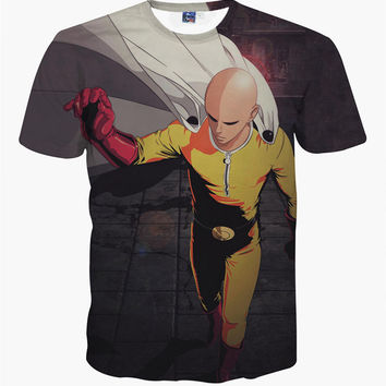 One Punch Victory 3D Print T-Shirt