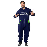 Seattle Seahawks Adult One Piece KLEW Sport Suit Navy Sizes XS-XL w/ Priority Shipping