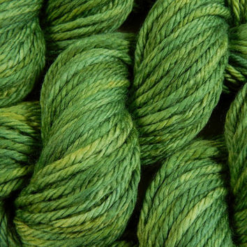 Hand Dyed Yarn - Bulky Weight Superwash Merino Wool Yarn - Laurel - Knitting Yarn, Wool Yarn, Bulky Yarn, Green