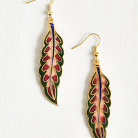Fronds Have More Fun Earrings by ModCloth