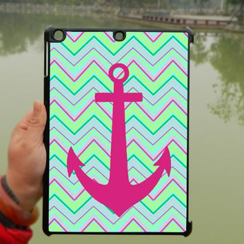Chevron Cute Hot pink anchor iPad Case,iPad mini Case,iPad Air Case,iPad 3 Case,iPad 4 Case,ipad case,ipad cover, ipad mini cover ipad air,iPad 2/3/4-129