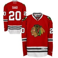Reebok Brandon Saad Chicago Blackhawks Premier Hockey Jersey - Red