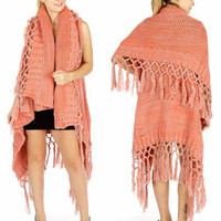 Supersize double tassel knit shawl Christmas Gift