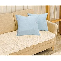 "All For You 2PC Square Decorative QUILTED Throw Pillow Shams- Bed/sofa Cushion covers-18"" X 18"" (light blue)"