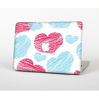 The Red and Blue Lopsided Loop-Hearts Skin for the Apple MacBook Air 13""
