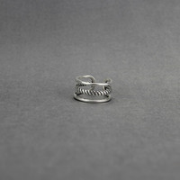 S925 Thai silver multilayer twist ring,a simple perfect gift !